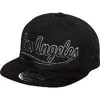 Boys black quilted Los Angeles snapback hat