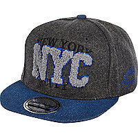 Boys grey NYC snapback hat