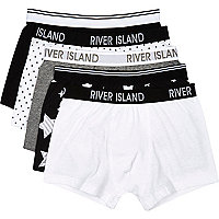 Boys white star 5 pack underwear