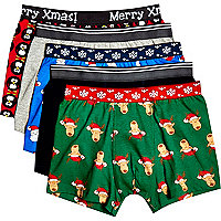 Boys christmas underwear 5 pack