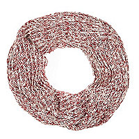 Boys red twist yarn snood