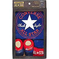 Mini boys blue and red Converse gift set