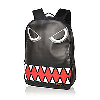 Boys black monster face Urban Junk backpack
