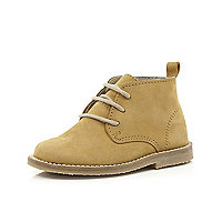 Mini boys tan desert boots