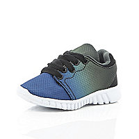 Mini boys blue ombre trainers