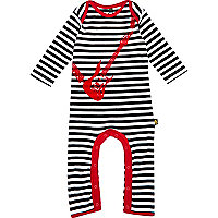 Mini boys black stripe guitar sleepsuit