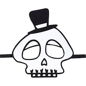 Kids skull halloween mask