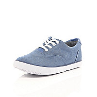 Boys blue spot trainers