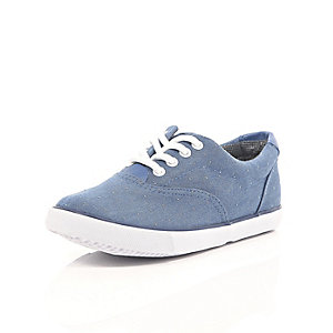 Boys blue spot trainers