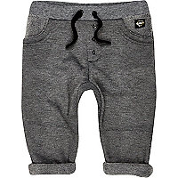 Mini boys grey line fleece joggers