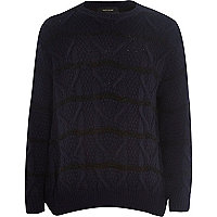 Boys navy stripe jumper