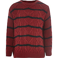 Boys red stripe jumper