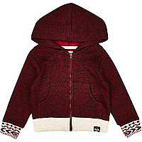 Mini boys dark red hoody