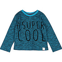 Mini boys turquoise super cool t-shirt
