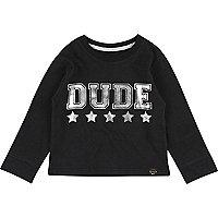 Mini boys black dude t-shirt