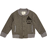 Mini boys fleece lined bomber jacket