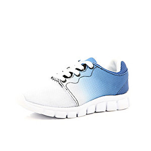 Boys blue ombre trainers