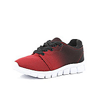 Boys red ombre trainers