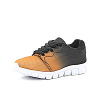 Boys orange ombre trainers