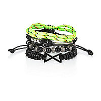 Boys lime bracelet set
