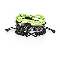 Boys lime bracelet set