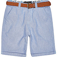 Boys blue belted shorts