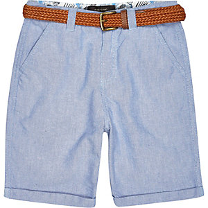 Boys blue belted shorts