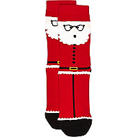 Boys red santa socks