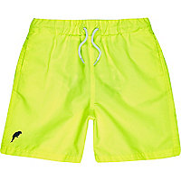 Boys neon yellow swim shorts