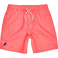 Boys neon pink swim shorts