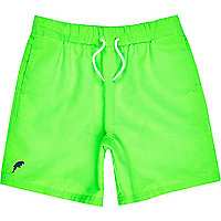 Boys neon green swim shorts