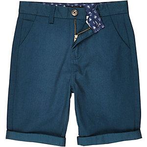Boys teal chino shorts