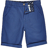 Boys blue star print shorts