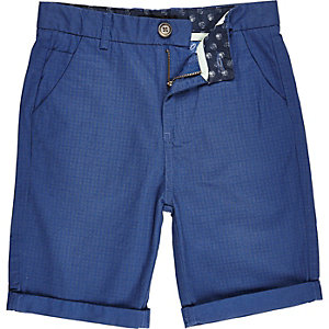 Boys blue star print shorts