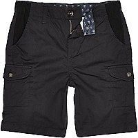 Boys navy blue cargo shorts