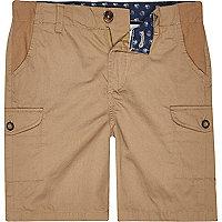 Boys stone cargo shorts