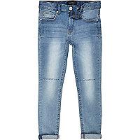Boys light wash ripped sid skinny jeans
