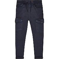 Boys navy blue skater trousers