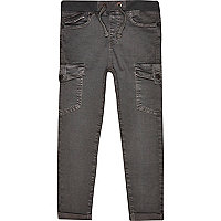 Boys black skater trousers