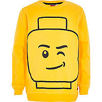 Boys yellow lego brick print sweatshirt