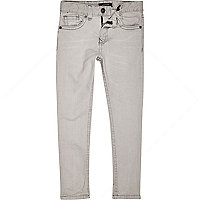 Boys light grey skinny jeans