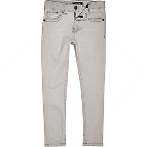 Boys light grey Sid skinny jeans