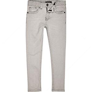 Boys light grey Sid skinny jeans