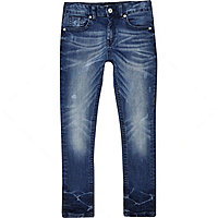 Boys blue slim mid wash jeans