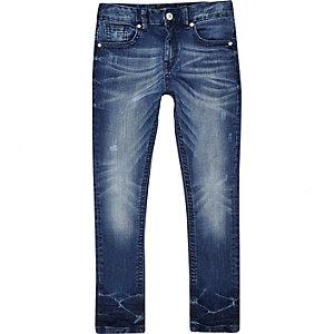 Boys blue mid wash Sid skinny jeans