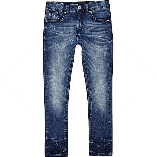 Boys Skinny Jeans Boys Blue Mid Wash Sid Skinny