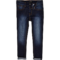 Boys blue dark wash Sid skinny jeans