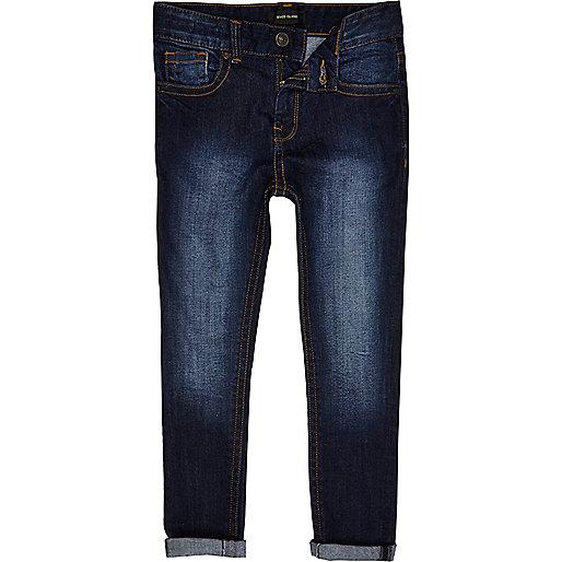 Boys Skinny Jeans Boys Blue Dark Wash Sid Skinny