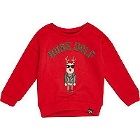 Mini boys Christmas rude dolf red sweater