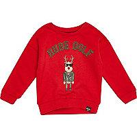 Mini boys Christmas rude dolf red sweater